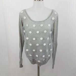 LC Lauren Conrad sweater M polka dot tulle bow